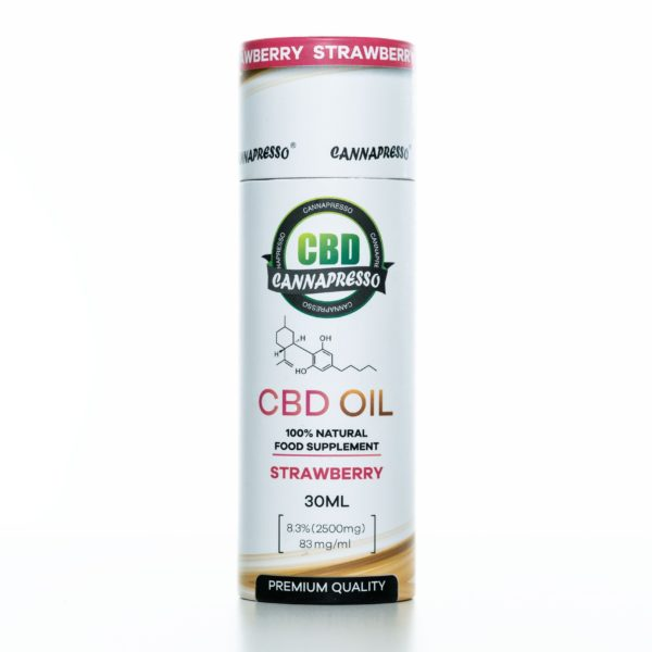 Cannapresso CBD Tincture Strawberry - 2500MG - 30ML
