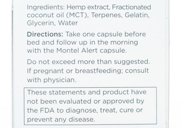 Select CBD Montel Hemp Extract Capsules - Alert - 1500MG - 30/co