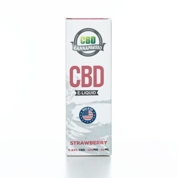 Cannapresso CBD Strawberry - 100MG - 30ML