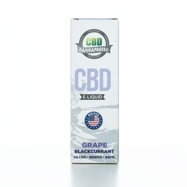Cannapresso CBD Grape Black Currant - 300MG - 30ML