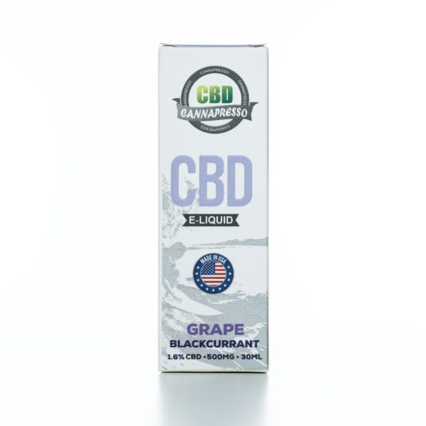 Cannapresso CBD Grape Black Currant - 500MG - 30ML