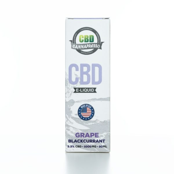Cannapresso CBD  Grape Black Currant - 1000MG - 30ML