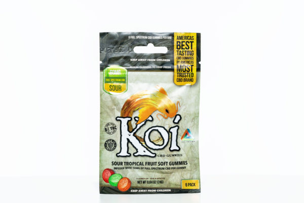 Koi Gummies - Sour Tropical Fruit - 60MG - 6 Pack 1
