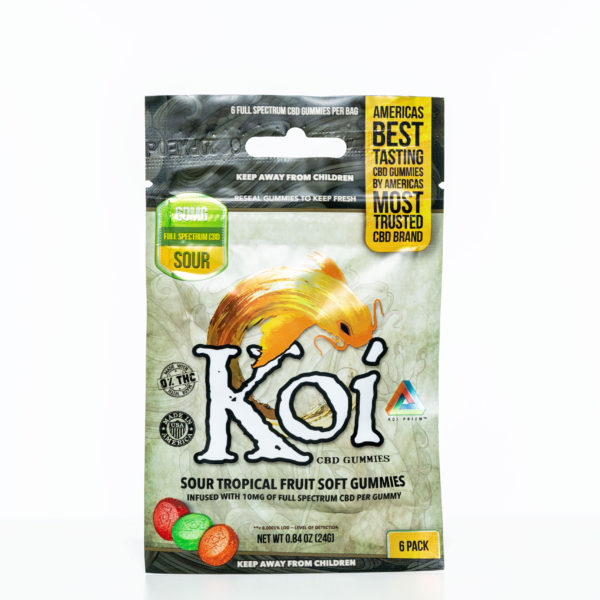 Koi Gummies - Sour Tropical Fruit - 60MG - 6 Pack 7