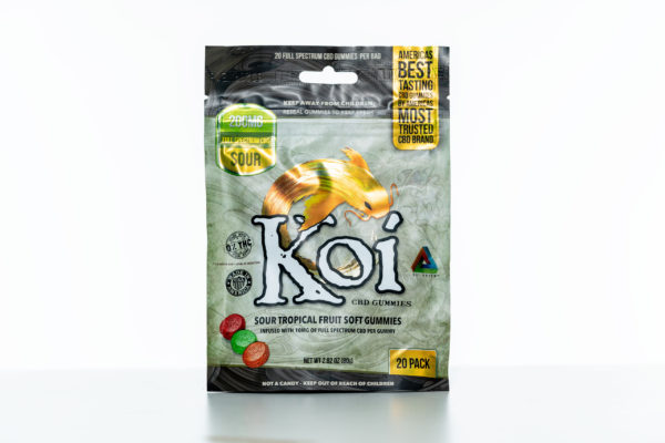 Koi Gummies - Sour Tropical Fruit - 200MG - 20 Pack 1