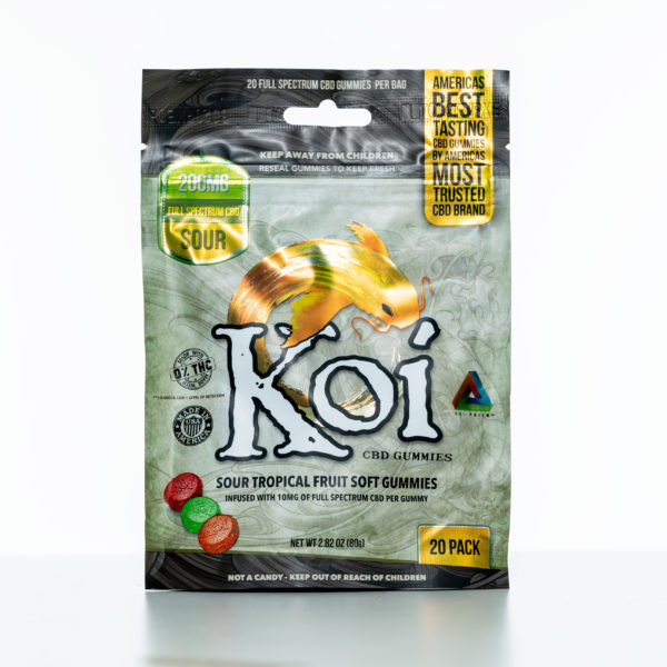 Koi Gummies - Sour Tropical Fruit - 200MG - 20 Pack 6