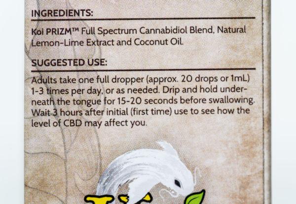 Koi Naturals CBD Lemon Lime - 500MG - 30ML 4