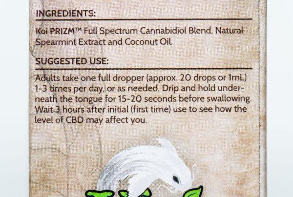 Koi Naturals CBD Spearmint - 500MG 30ML 4