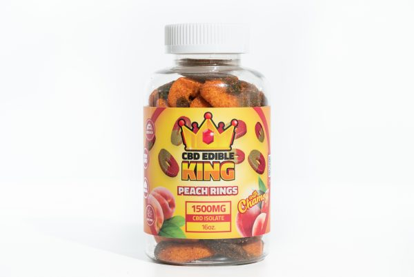 CBD Edible King- Watermelon Rings Chamoy- 1500MG- 16oz 1