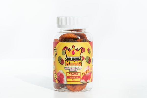 CBD Edible King- Watermelon Rings Chamoy - 750MG - 8oz 1