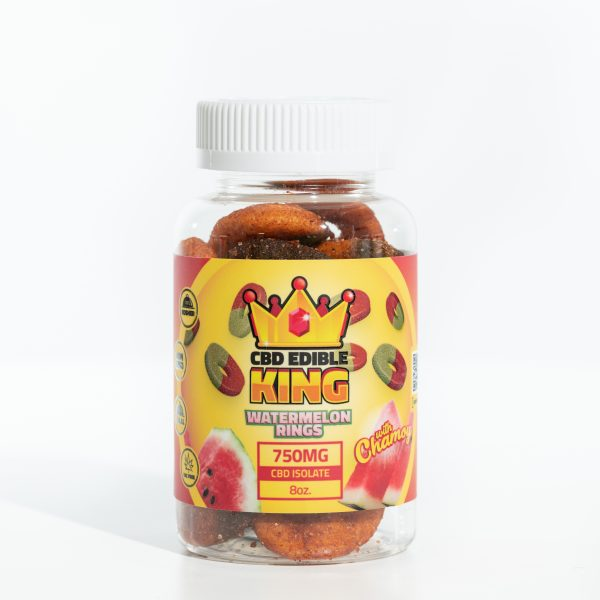 CBD Edible King- Watermelon Rings Chamoy - 750MG - 8oz 5