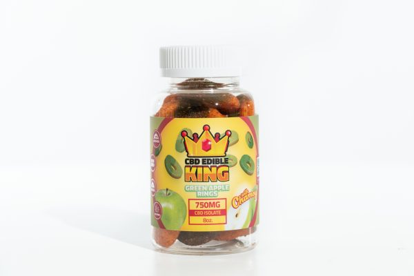 CBD Edible King- Green Apple Rings Chamoy - 750MG - 8oz 1